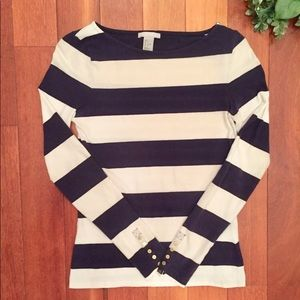 H&M Striped long-sleeve shirt